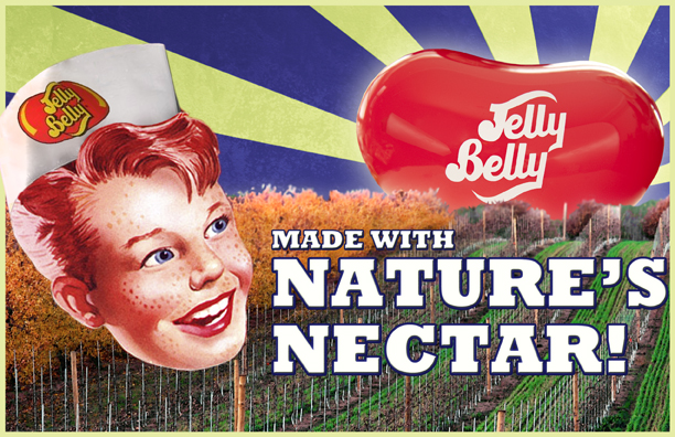 Jelly Belly jelly beans are primarily made with real fruit. So, to showcase this feature we reached back in time and represented Jelly Belly candy as ... - 01_JellyBellyCC