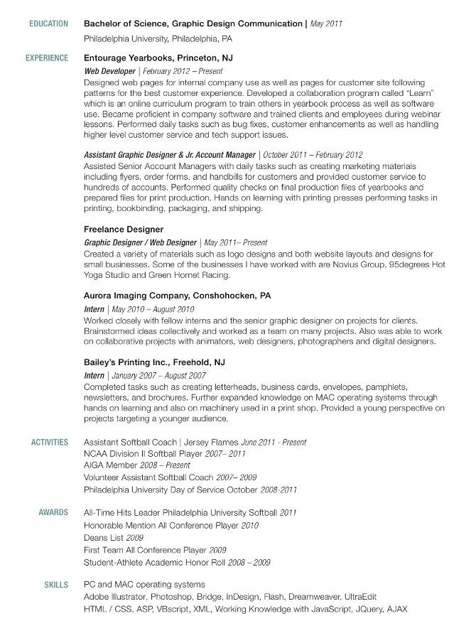 resume jennifer richard graphic design illustration
