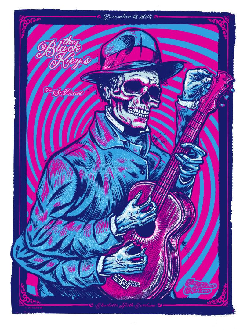Black Keys Poster - Charlotte, NC - zzz zoltron com