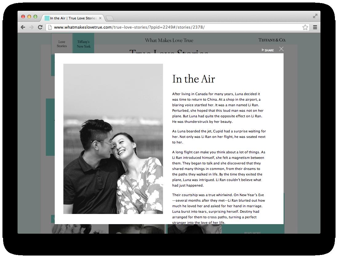 Tiffany & Co  True Love Stories - Kendra Wan