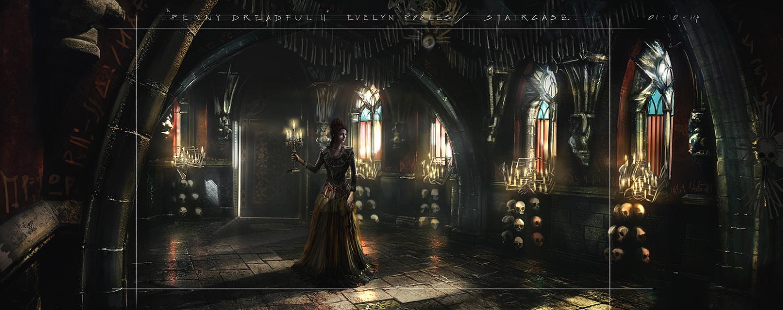 Dungeon Hall Concept Art