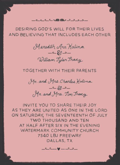 Tracy Wedding Invite Ryan Feerer