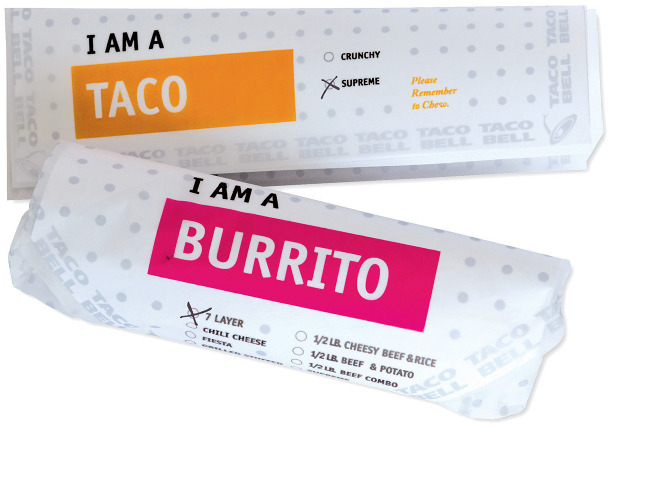 Taco bell packaging jonathan pish graphic design