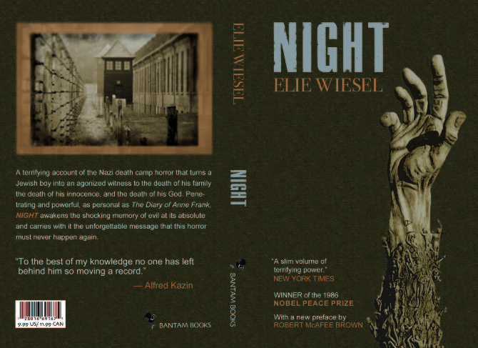 a book analysis of elie weisels the night Elie wiesel's night in interdisciplinary courses: an integrative approach  that  intellectual analysis and critical thinking are necessary, but perhaps not  before  you begin reading the book, contemplate what you are about to read, thinking.
