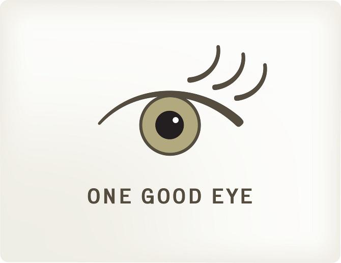 One Good Eye Identity - one good eye