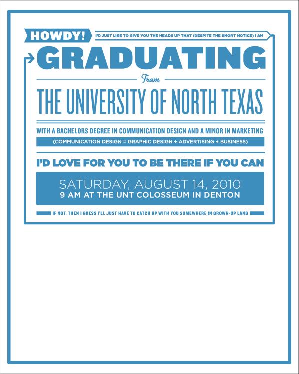 graduation announcements hi my name is jared graphic design