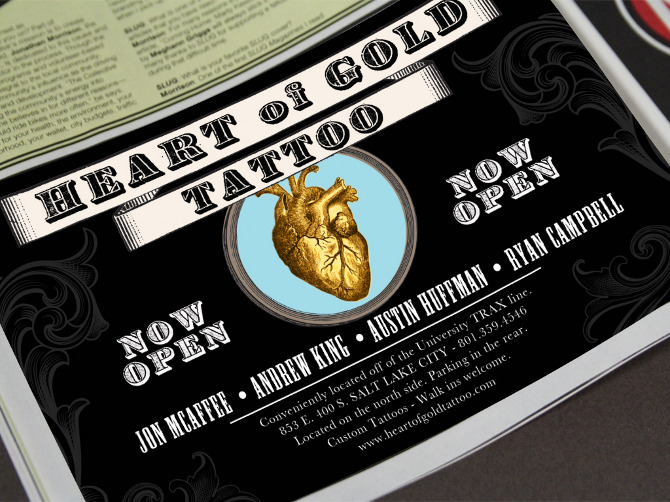 Heart of gold tattoo dan pizza design for Heart of gold tattoo