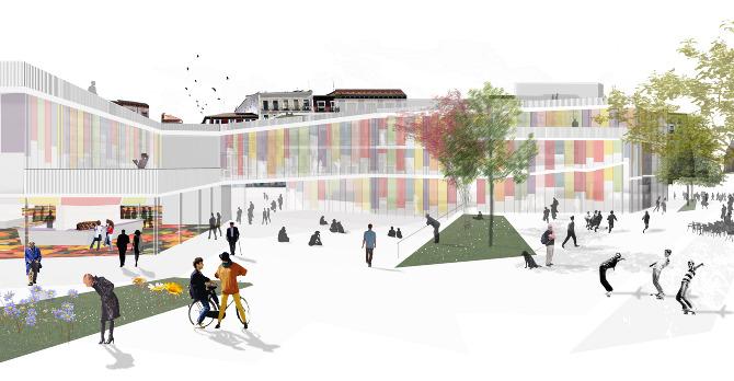 Market cultural hub sports centre lucas mazarrasa - Escuela superior de arquitectura de san sebastian ...