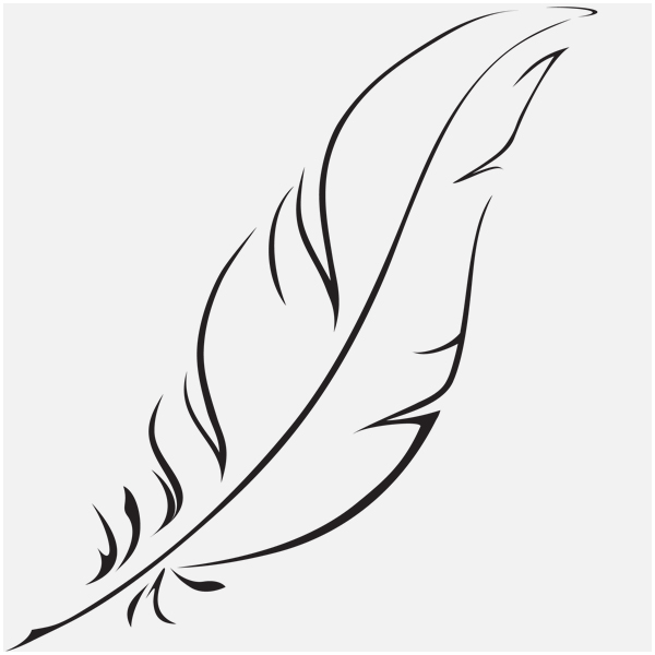 Line Art Feather : Paper crane line drawing