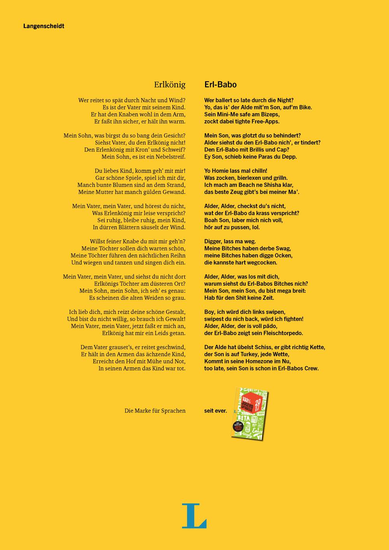 Erlkönig gedicht text