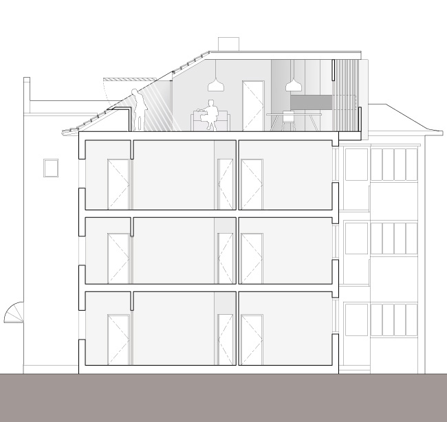 Rooftop Apartments Searle X Waldron Architecture