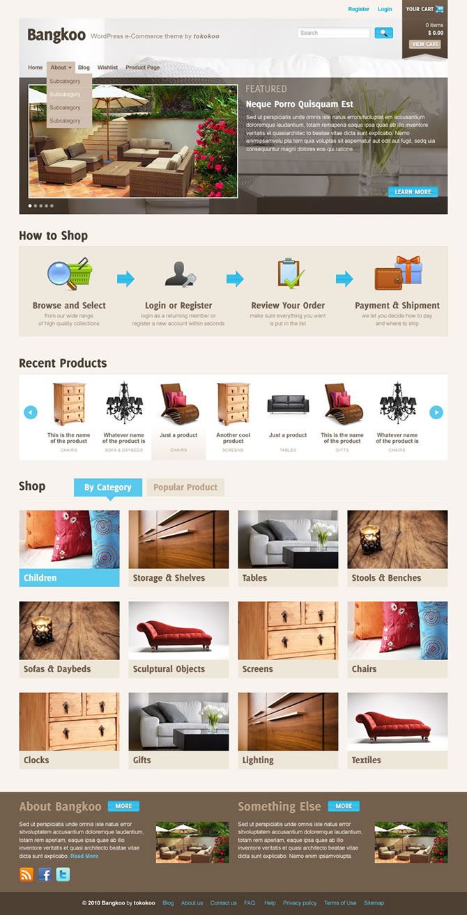Tokokoo WordPress Themes - Monika Halim - Interface Design