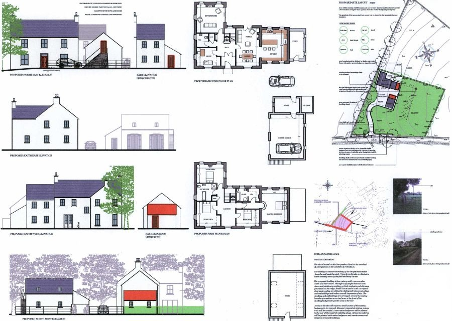 Planning permission for garages floor plans 2 story house plans ireland