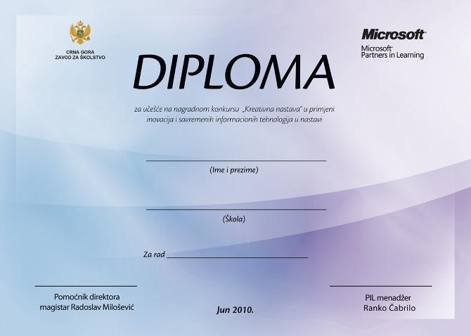 Microsoft certificates - www.dizajniraj.me