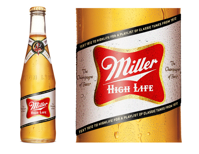 5594de7375b5a Miller High Life  Tune in to Timeless. A heritage label program that tied  the label year with a corresponding year of an unknown