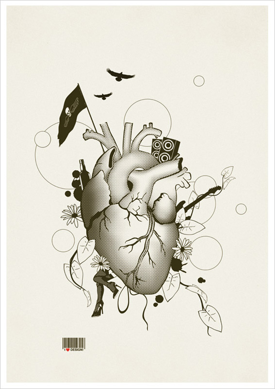 Line Art Poster Design : I love design dp illustrations