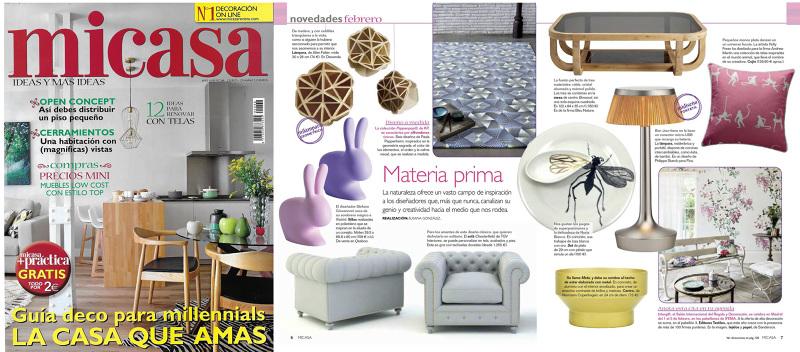 Mi casa revista de decoracion combina materiales en el for Revista decoracion casa