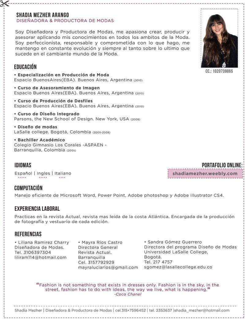 Curriculum Vitae Shadia Mezher