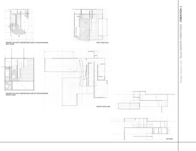 Villa Savoye Iterations Lorena M Quintana