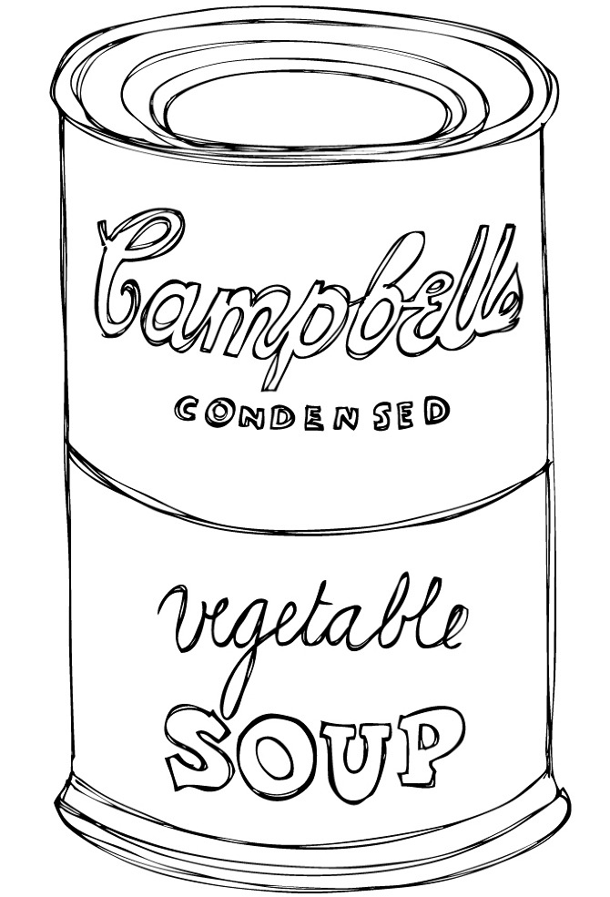 campbells soup coloring pages - photo#1