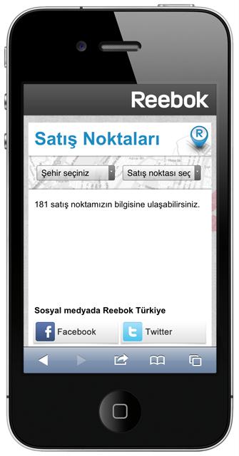 Reebok Mobile Store Locator Woohoo Digital