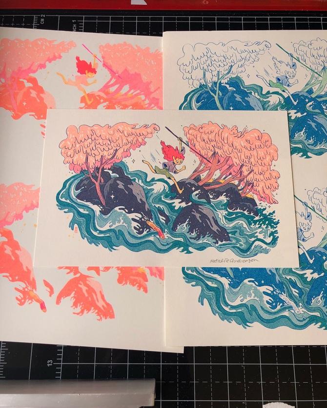 Apartment Blue Book: Risograph Print Subscription / Wild River Girl