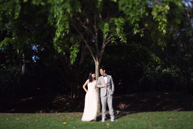 Singapore Botanic Gardens wedding photo