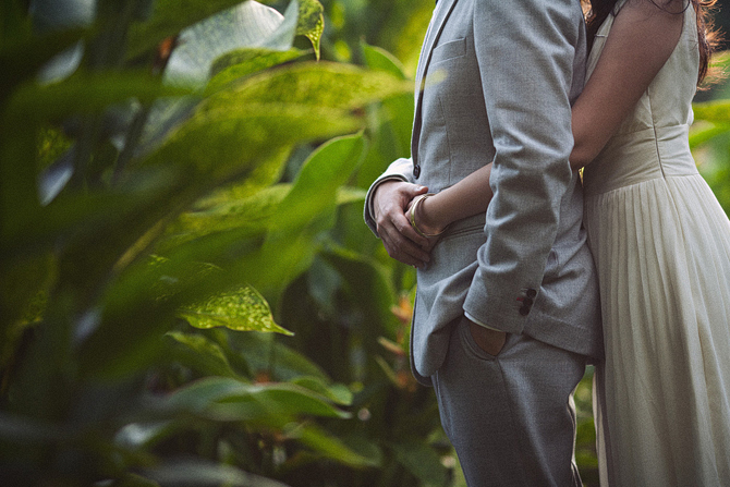 Singapore Botanic Gardens engagement  photo