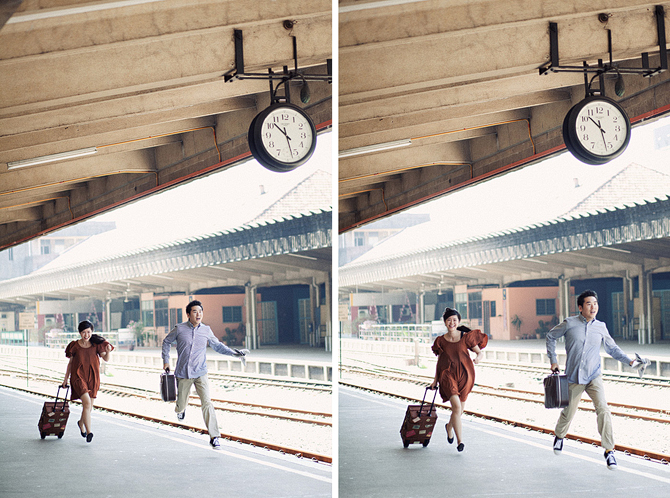 Tanjong pager railway station, pre-wedding photo