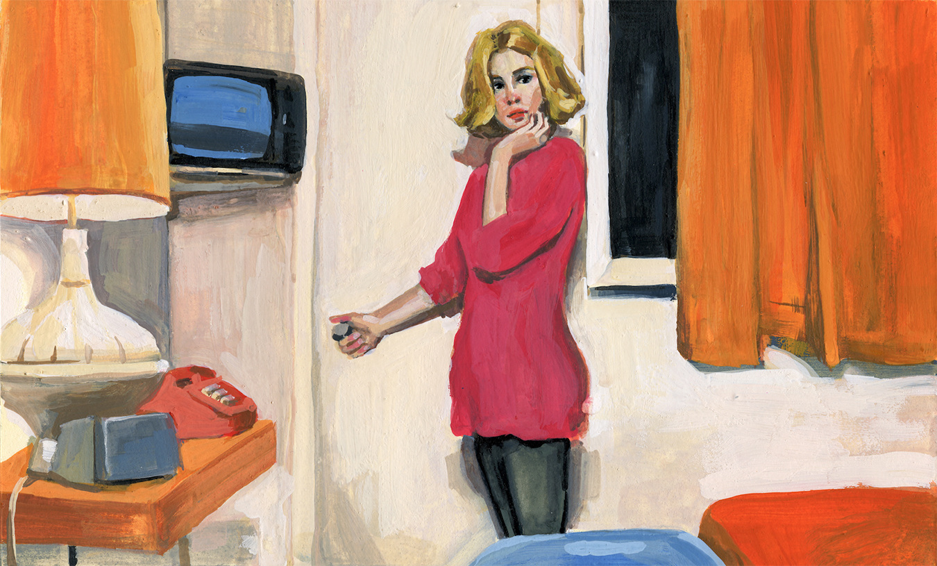Paris, Texas Gouache On Watercolor Paper
