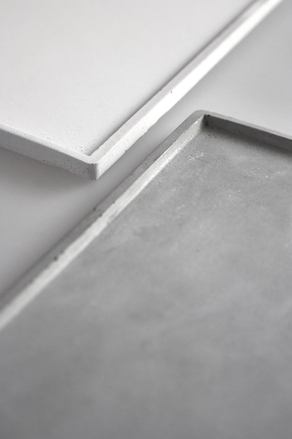 rectangular concrete tray
