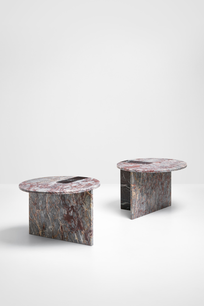 Nieuwe Side Table.Colouring Table Purple Marble Os Oos
