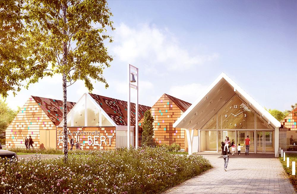 Le Campus Maternelles D Houndt Bajart Architectes Associes