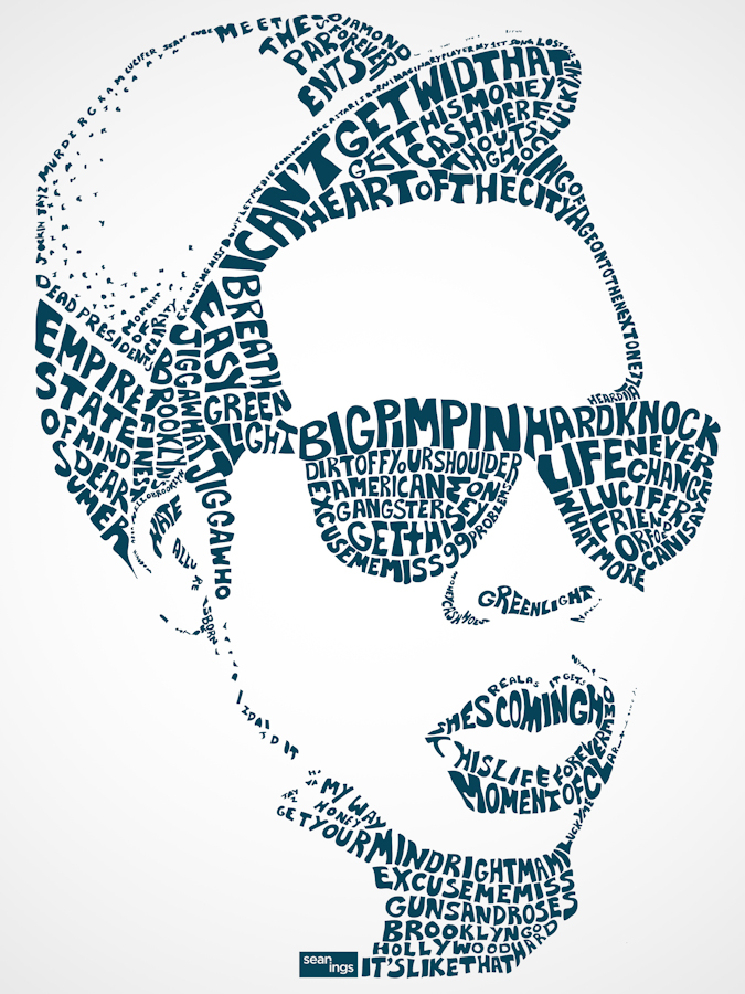Jay Z Typographic Design Seanings Photography Design