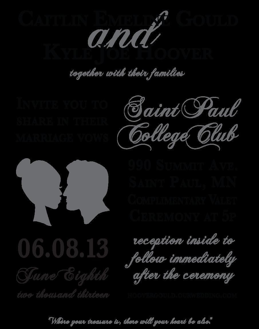 wedding invitation program caitlin jo scott