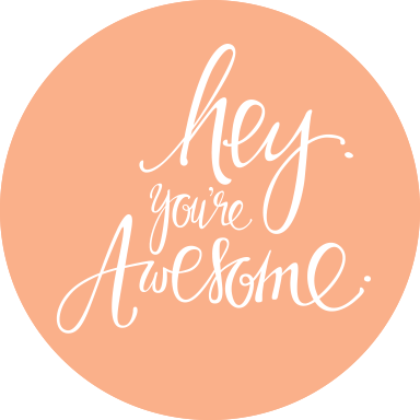 hey you re awesome justine ma design hand lettering