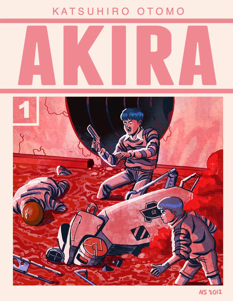 Akira Vol 1 Cover Nick Sumida Comics Illustration