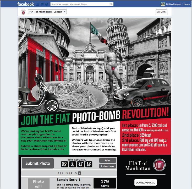 Fiat Of Manhattan >> Fiat Photo Bomb Friendemic Campaigns