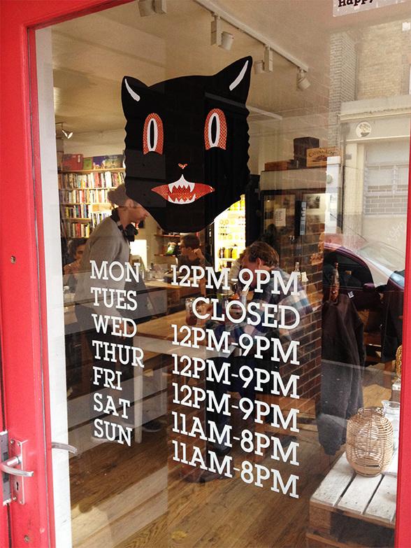 Black Cat Cafe Windows Pincel Signs Amp Murals