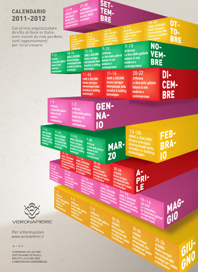 Veronafiere Calendario.Verona Fiere Calendario Manifesto Martinamannocchi