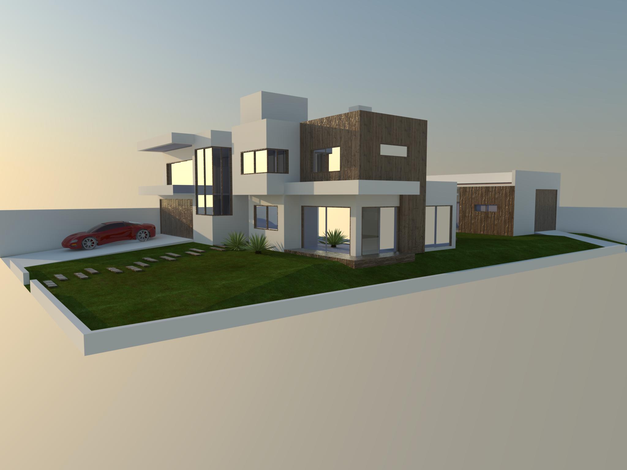 Unifamiliar Residential Project Residencia Unifamiliar Jessica Bohmer Architecture Modelling