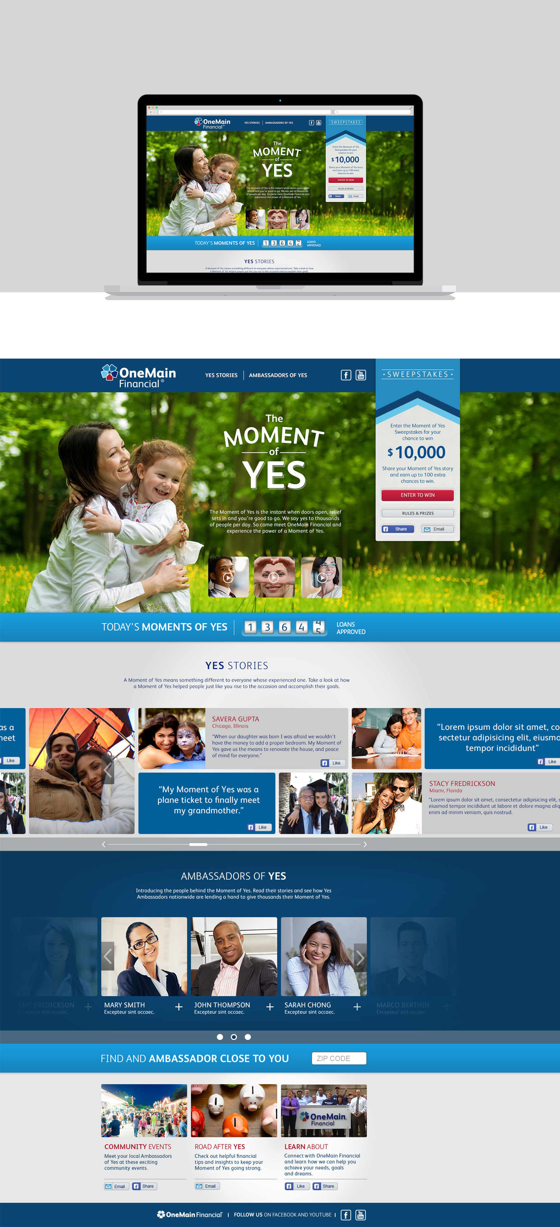 Onemain Financial The Moment Of Yes Microsite Danielgoel Com