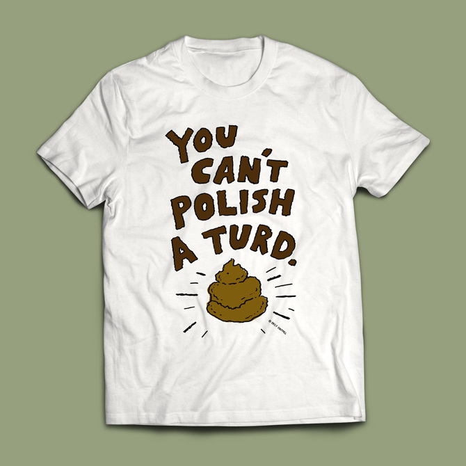 39e6df85 'You Can't Polish A Turd' T-shirt - Emily Chappell - Illustration