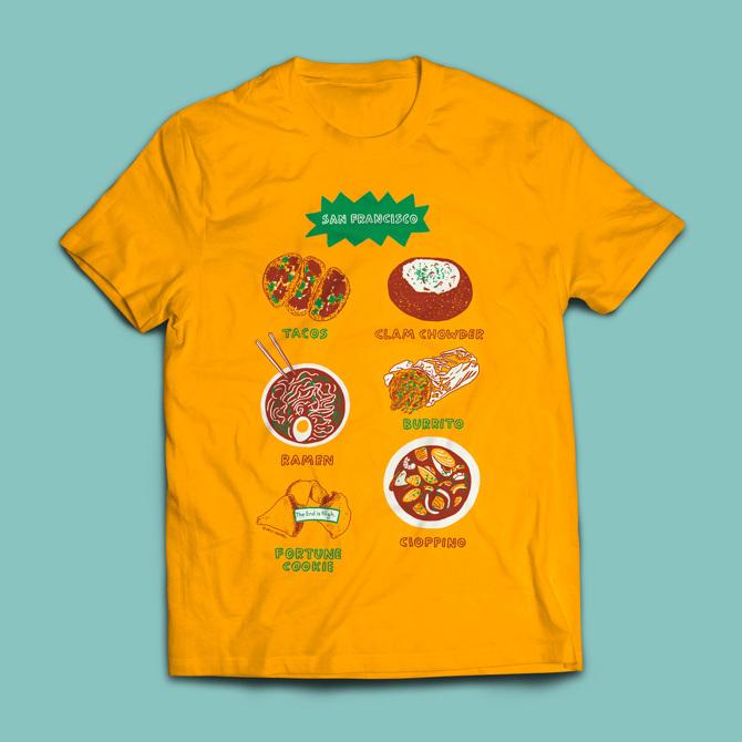 61b162483 San Francisco T-Shirt - Emily Chappell - Illustration