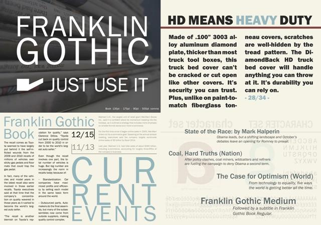 Franklin Gothic Type Specimen - MacRostie Designs