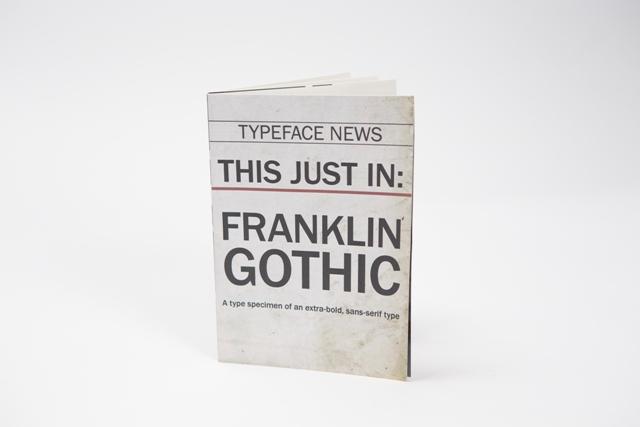 Franklin Gothic Type Specimen - macrostie - Personal network