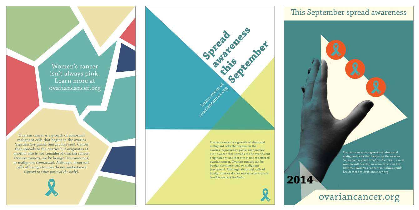 Ovarian Cancer Awareness Posters Kaitlin Callender