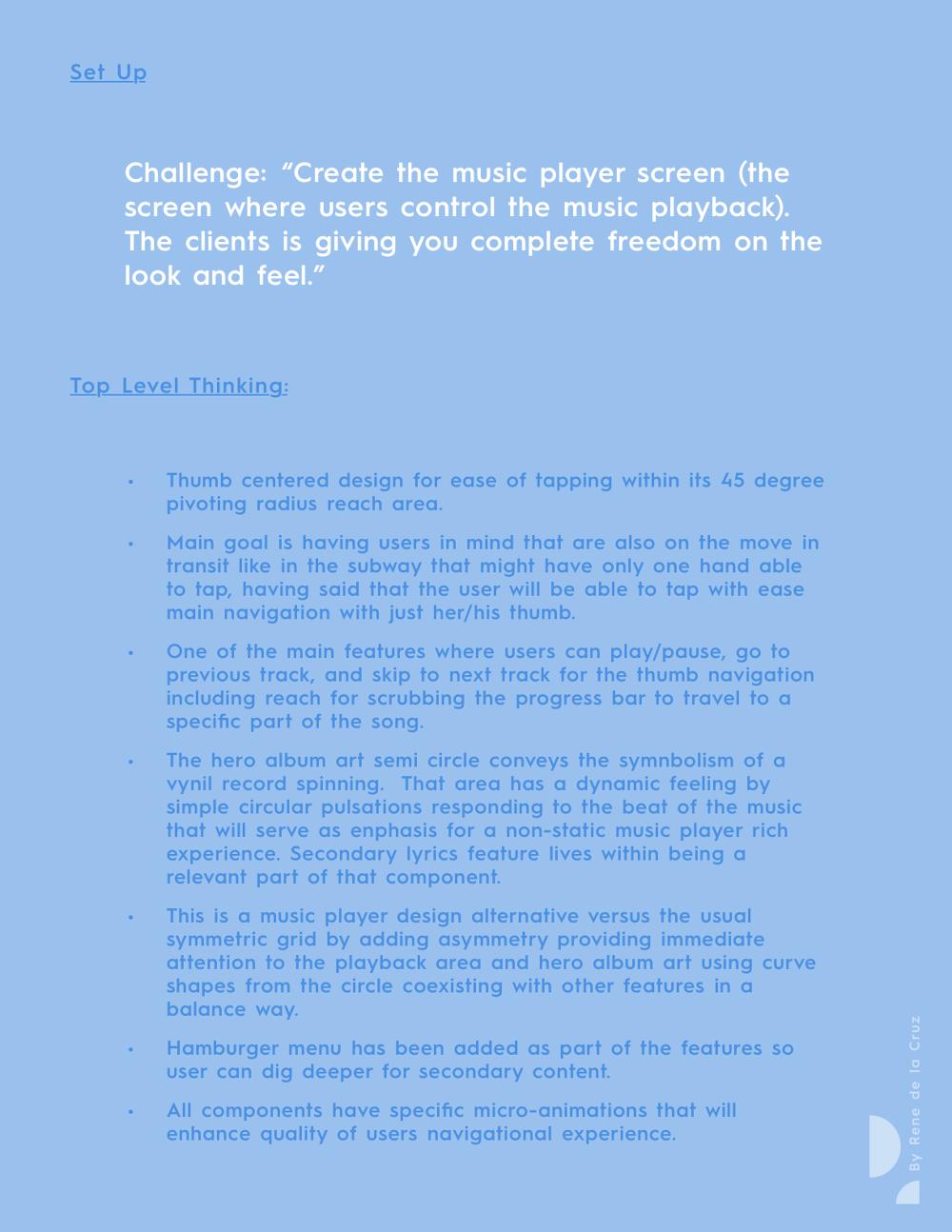 u0026quot music player screen u0026quot  - five hour design exercise
