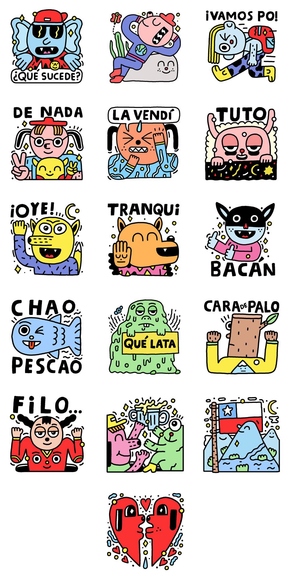 Take it easy - Stickers for Facebook - Pablo Delcielo