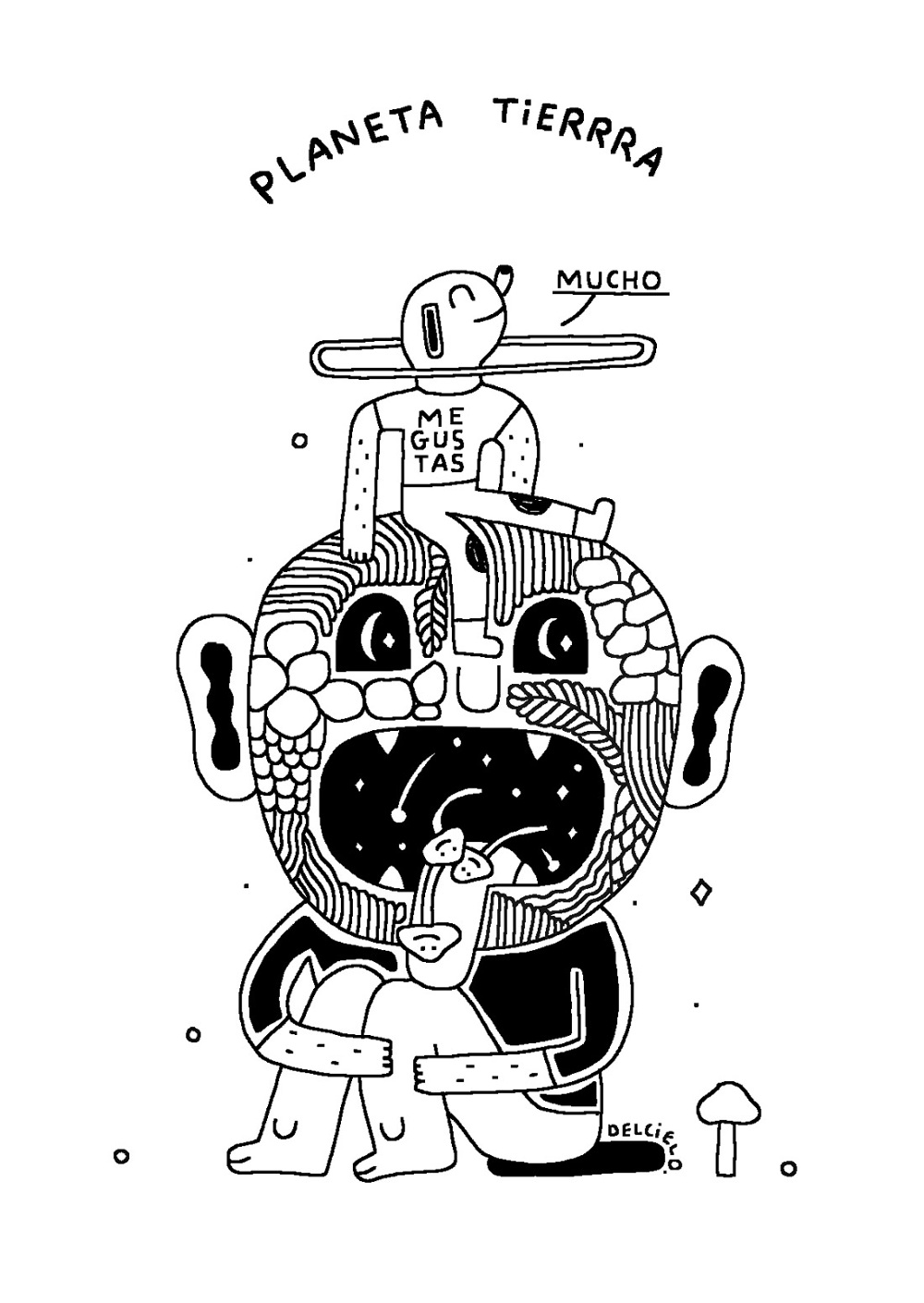 Black White Drawings Pablo Delcielo Illustrator